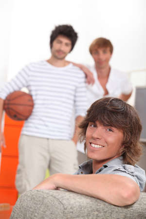 young men in their apartment photo