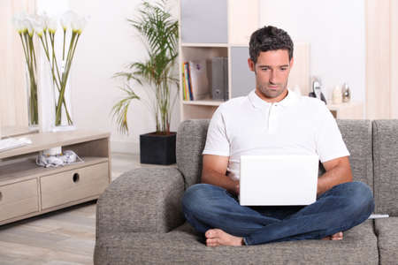 Man on laptop Stock Photo - 17476223