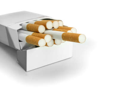 Open packet of cigarettes Stock Photo - 17511492