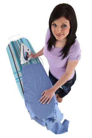 woman ironing male Stock Photo - 17475975
