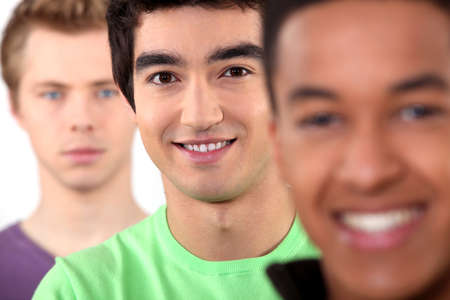 ethnically diverse: Ethnically diverse group of young men