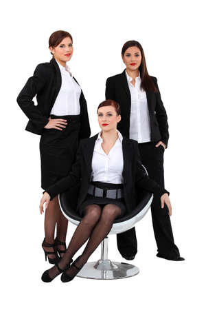 nylons: Businesswomen posing together