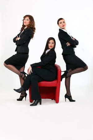 Three successful business women photo
