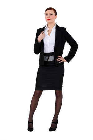 narcissist: Portrait of a successful businesswoman