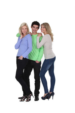 Three teenagers  Stock Photo - 17475955