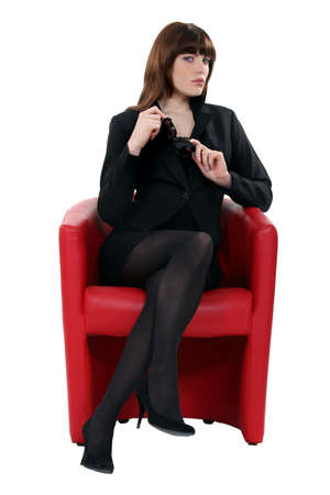 shapely legs: Portrait of a sophisticated woman