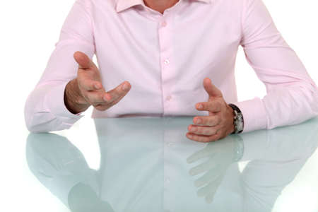 vehement: Male hands gesturing