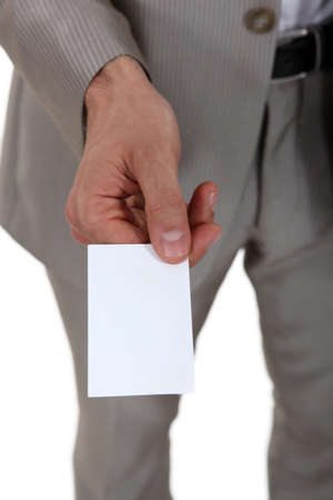 A blank business card Stock Photo - 17511559