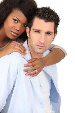 lustful: Young couple hugging