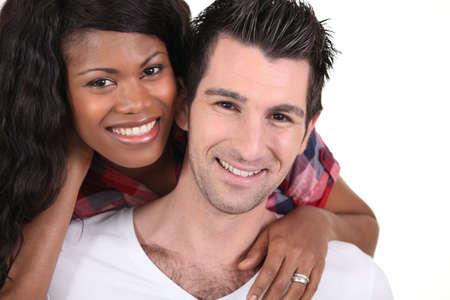 black man white woman: Couple in love