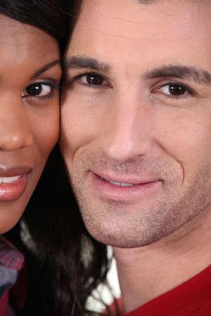 Interracial couple photo