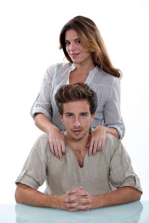 rolled up sleeves: Portrait of couple