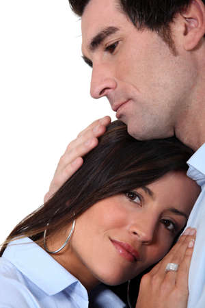 snugly: Couple in a loving embrace