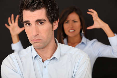 choleric: couple having a quarrel