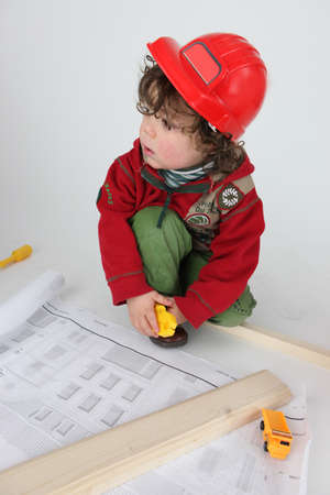 little boy architect photo
