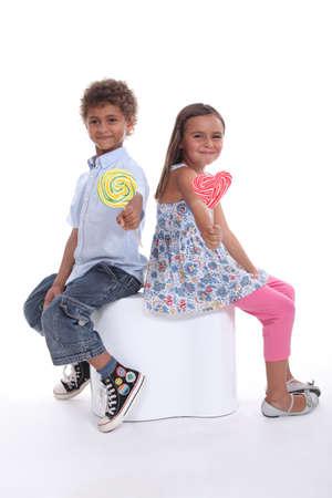 Children with lollipops Stock Photo - 17506028