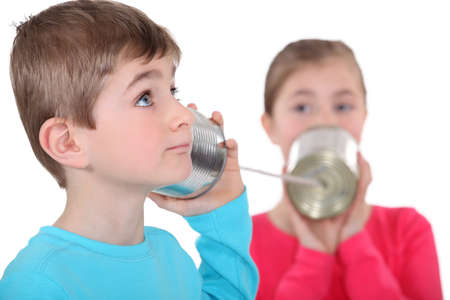 tin can phone: Brother and sister communication via sting and tin