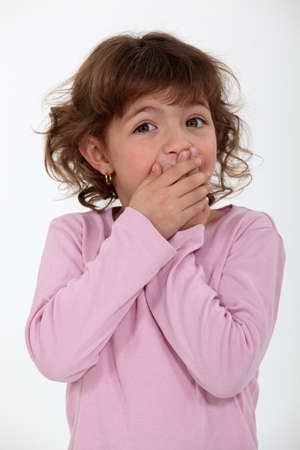 Shocked little girl Stock Photo - 17505898
