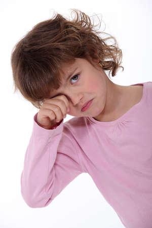 drowsiness: Sleepy girl Stock Photo