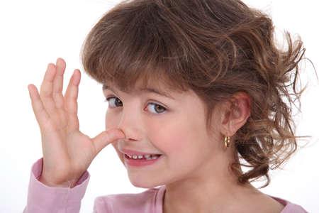 mockery: Girl making a mockery Stock Photo
