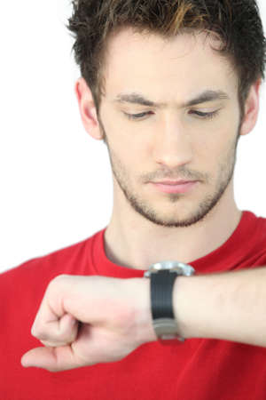 Man looking at the time Stock Photo - 17506269