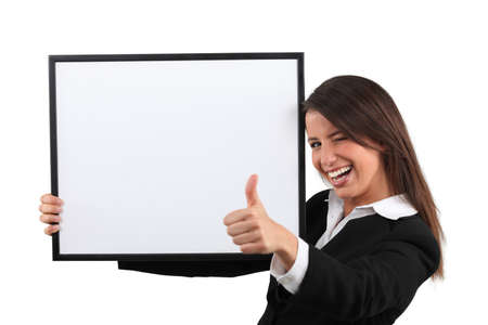 Enthusiastic woman giving the thumb Stock Photo - 17506367
