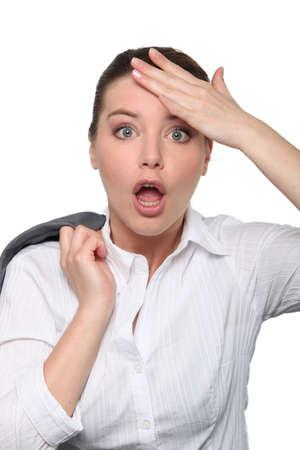 Shocked expression photo