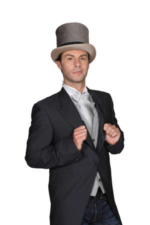 40 to 45 years old: Man in a top hat