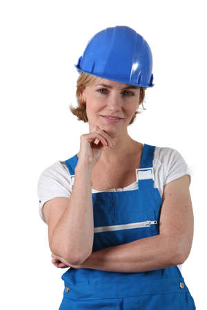 labourer: Female labourer Stock Photo