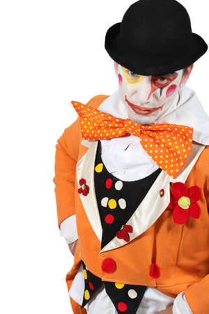 man dressed as clown Stock Photo - 17506277