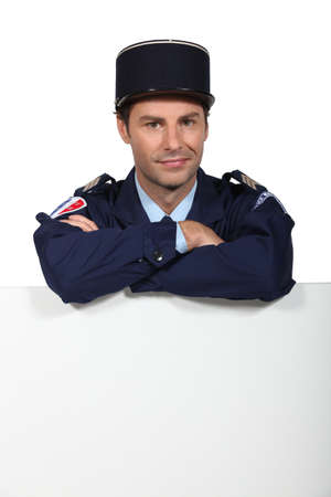 kepi: Policeman Stock Photo