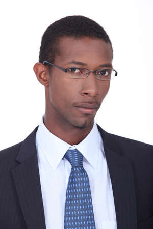Young African American businessman photo