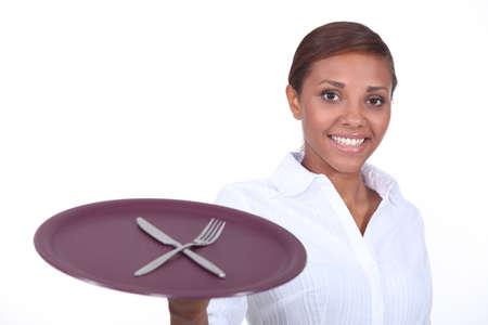 a black waitress photo
