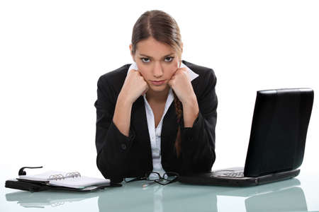 Woman with problems Stock Photo - 17577630