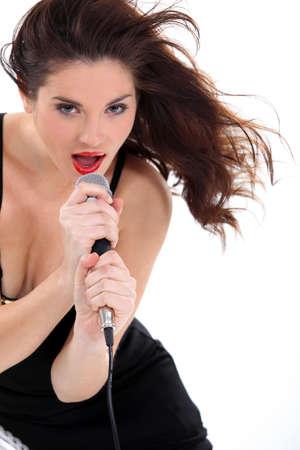 Woman singing Stock Photo - 17583357