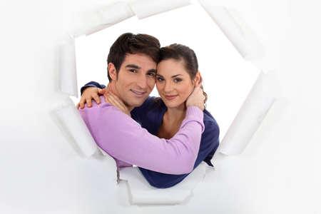 love explode: Loving couple Stock Photo