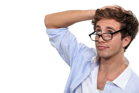 forget: Forgetful man Stock Photo