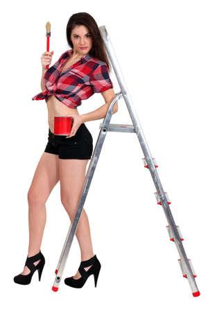 Sexy painter photo