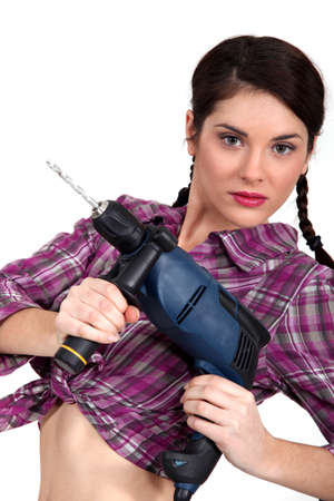 servicewoman: Need to make a hole