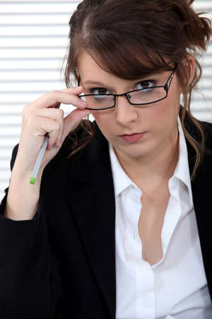 serious business woman Stock Photo - 17583975