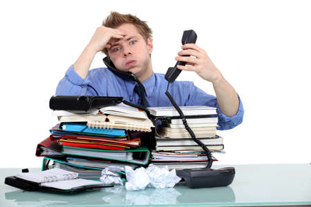 Overworked civil servant Stock Photo - 17579779
