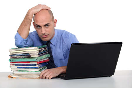 An overwhelmed executive. Stock Photo - 17579699