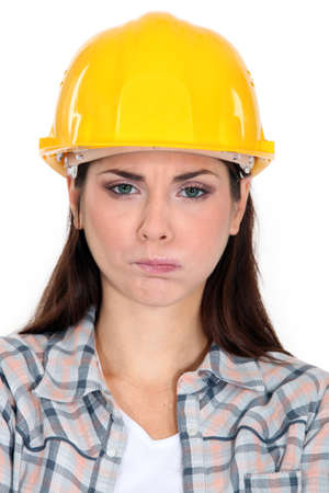 incertitude: Angry construction worker