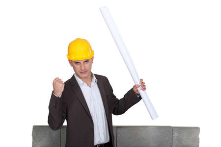 Architect with Stock Photo - 17577503
