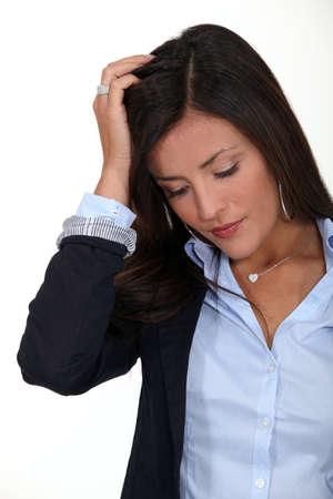 A perplexed woman photo