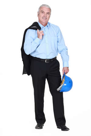 Man holding jacket over shoulder Stock Photo - 17732278