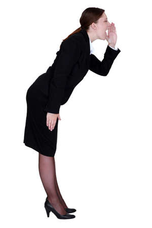 businesswoman shouting photo