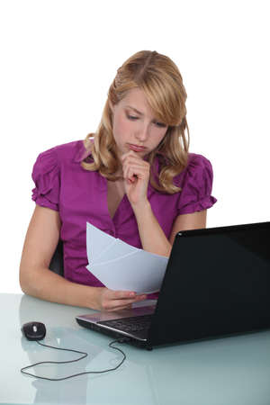 appointee: Office worker at her desk