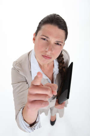 businesswoman pointing at you photo