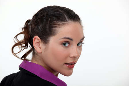 Close-up of brunette businesswoman photo